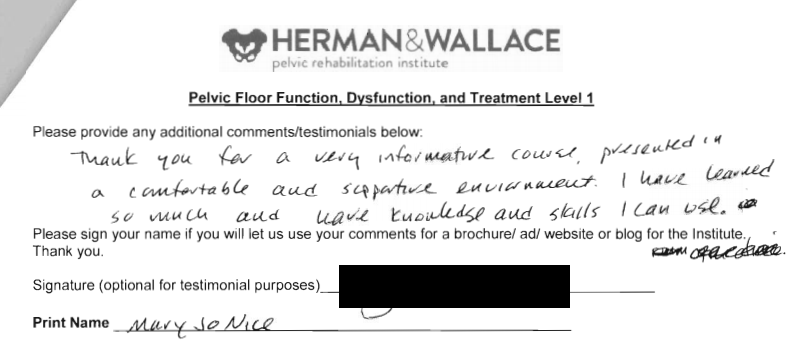 Physical dysfunction practice skills for the occupational therapy herman wallace pelvic rehabilitation continuing education pelvic thank you for a very informative course presented in fandeluxe Gallery
