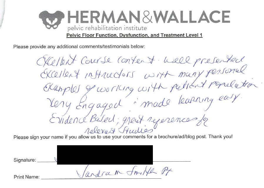 Herman & Wallace Pelvic Rehabilitation